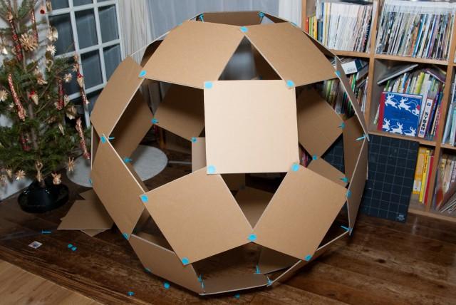 でっかいサッカーボールの作り方